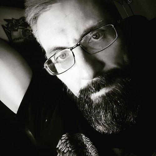A little black and white snap for a change Beardsandtattoos Greyhair  Bpdfam Bearded Beardporn Uk Beards Beard Pognophiles Smile Beardgame Beardedmen Dark Monochrome Blackandwhite Beardlovers Positivevibes Selfie Instabeard Motörhead Livetowin Metalhead Volbeat ACDC Bedtime aceofspades