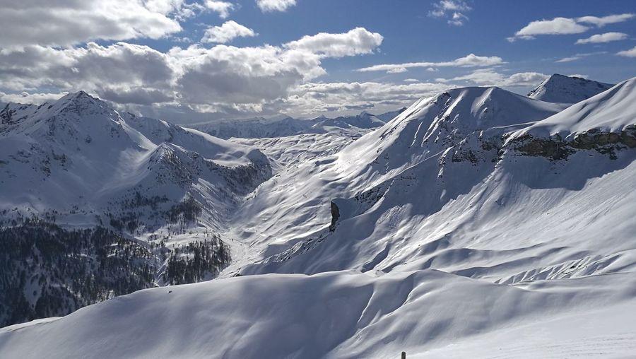 Alpes Maritimes EyeEm Selects Mountain Snow Cold Temperature Winter Snowcapped Mountain Sunlight Mountain Peak Pinaceae Sky Landscape