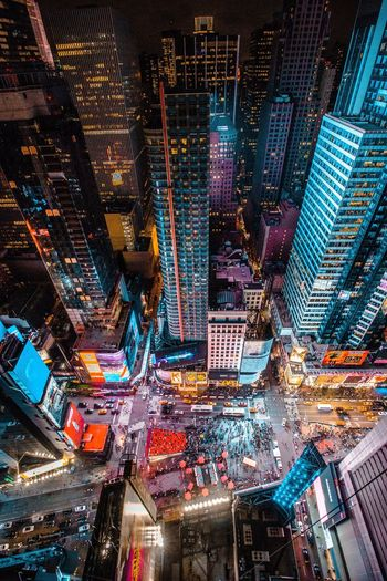 Birdseye view of times square, new york city