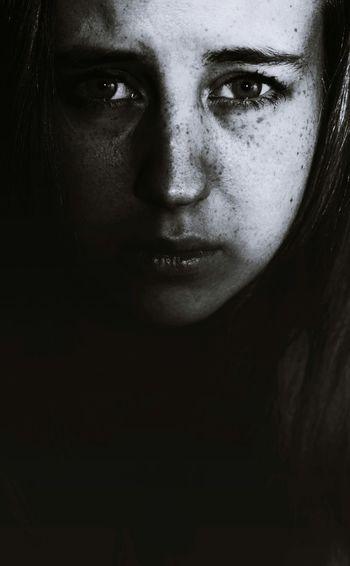 Shades Of Grey Monochromatic Eyes Self Portrait