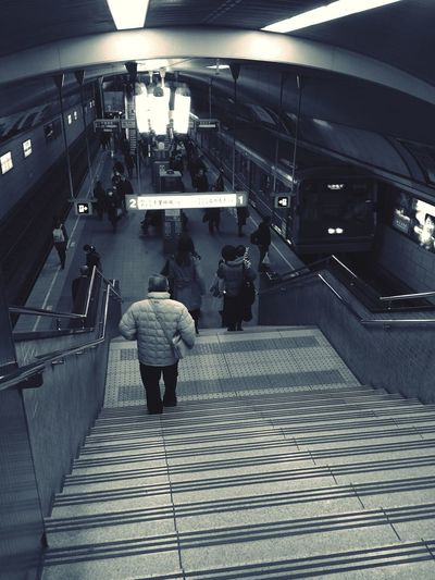 Subway Way To Go Home Streetphoto_bw