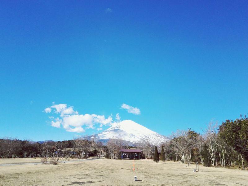 Blue Clear Sky Outdoors Nature Fuji Mtfuji Fujisan Japan January 2017 Beautiful Camping