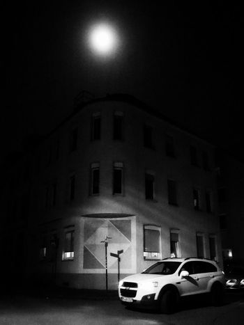 Spotlights - MAinLoveWithLightAndShadow watching white car SUV Driving from Darkness into Spotlight Light And Shadow Shadow And Light Light Shadow Dark Night Street Street Photography Urban Urban Photography Urban Exploration Moon Moonlight Full Moon Monochrome Black And White Bnw Bnw Photography The City Light How I See The World - 12.03.2017 - #Paderborn