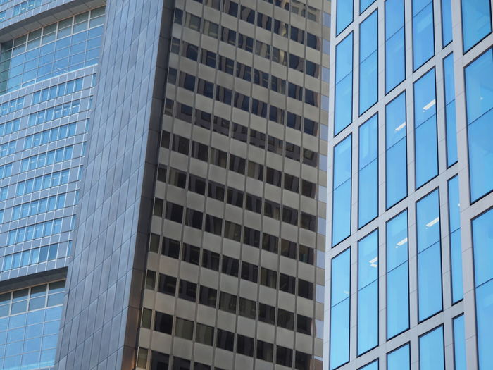 Architecture Blue Building Exterior Built Structure City Corporate Business Day Financial District  Glass - Material Growth Low Angle View Modern No People Office Building Exterior Outdoors Pattern Reflection Sky Skyscraper The Architect - 2017 EyeEm Awards Window