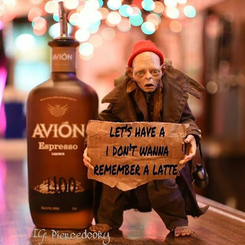 This is how my Friday feels. Aviontequilaespresso Aviontequila Drunktoys Smeagol Neca Ata_pickedbypaul LOTR