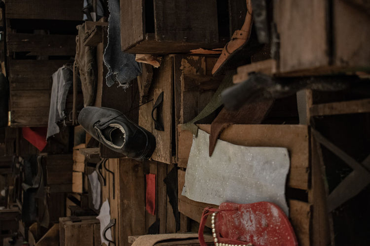 Indoors  No People Large Group Of Objects Hanging Abundance Wood - Material Old Abandoned Still Life Run-down Obsolete Variation Damaged Metal Decline Deterioration Choice Close-up Bad Condition Group Of Objects