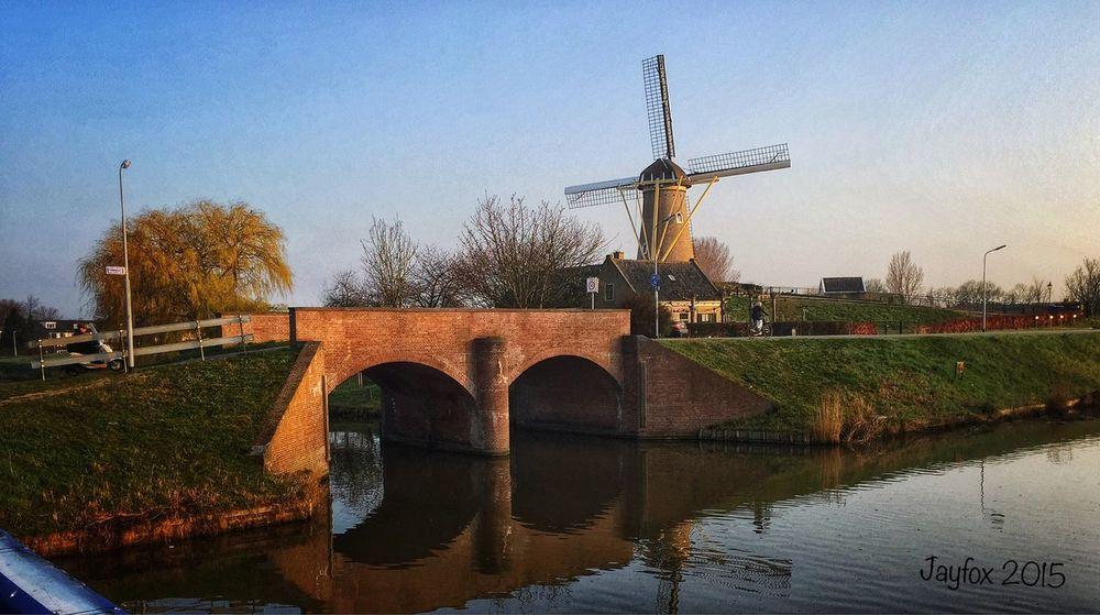 Serene... Windmill Water Bridge IPhoneography