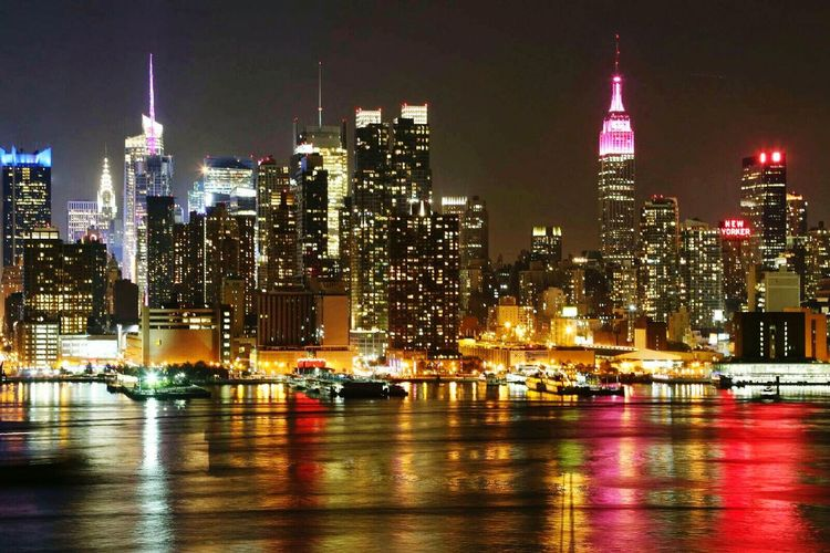 Midtown Manhattan, Hudson River NYC NYC Photography Nycskyline  Night Photography