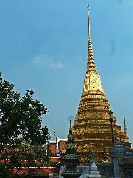 Architecture Bangkok Cultures Gold Colored Golden Pagoda Low Angle View No People Pagoda Place To See Royal Palace Bangko Thailand Travel Destinations
