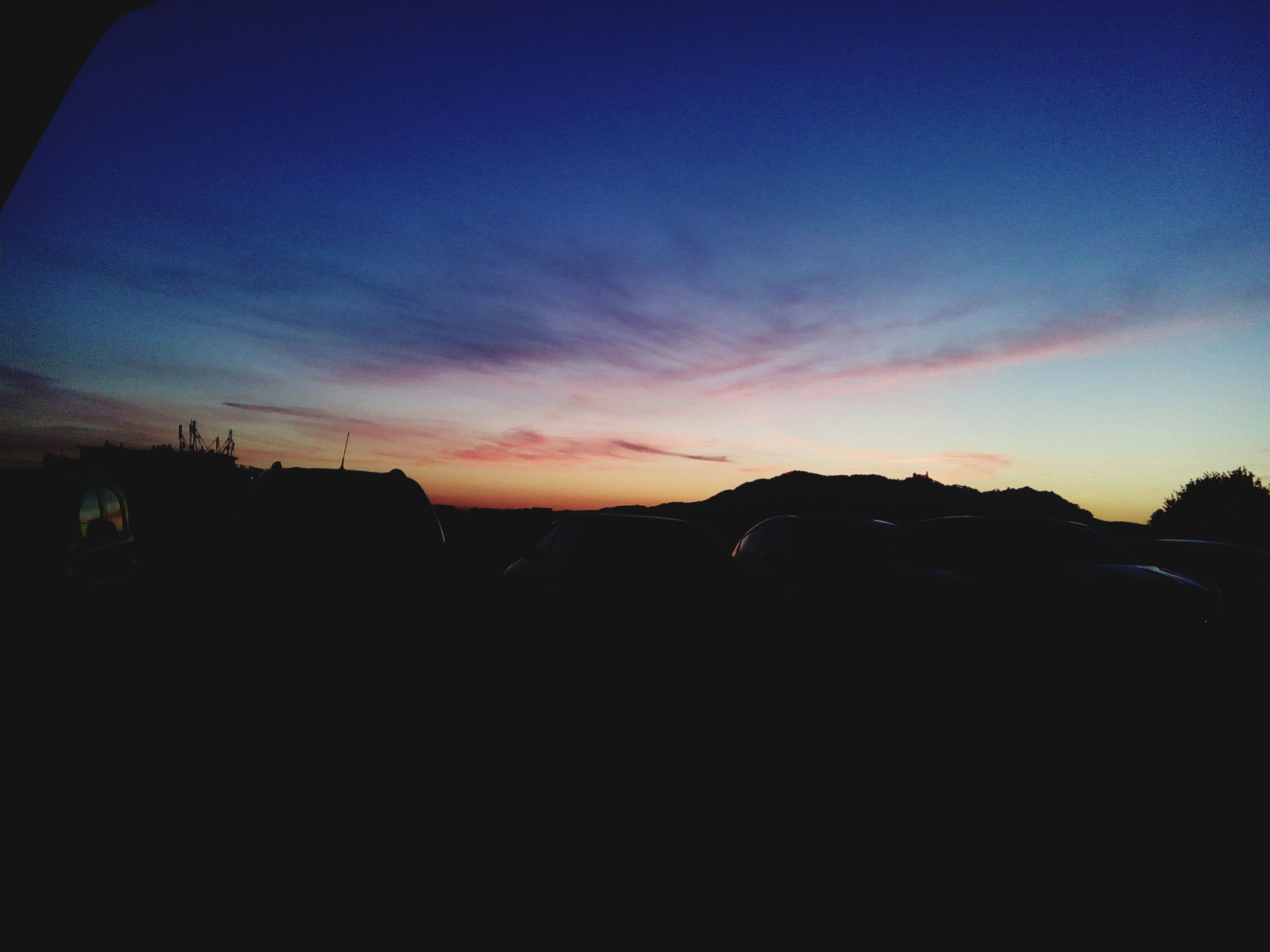 sunset, sky, silhouette, nature, beauty in nature, no people, outdoors, night