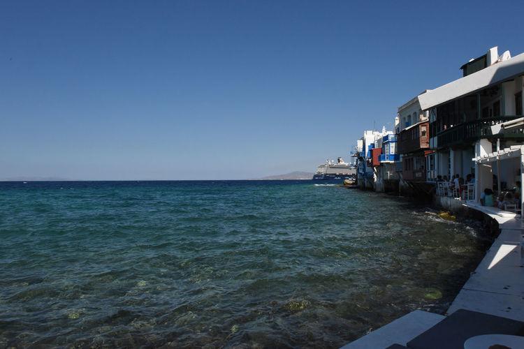 Aegean Aegean Islands Aegean Sea Blauer Himmel Blaues Meer Blaues Wasser Blue Sea Blue Sky Cruise Ship Greece Kykladen Kyklades Mykonos Mykonos,Greece Sky Wasser Water ägaisches Meer ägäis ägäische Inseln
