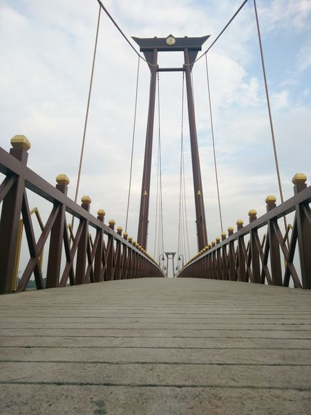 Architecture Bridge Bridge - Man Made Structure Built Structure City Cloud - Sky Connection Day Engineering Low Angle View Metal Nature No People Outdoors Sky Suspension Bridge Transportation Travel Destinations
