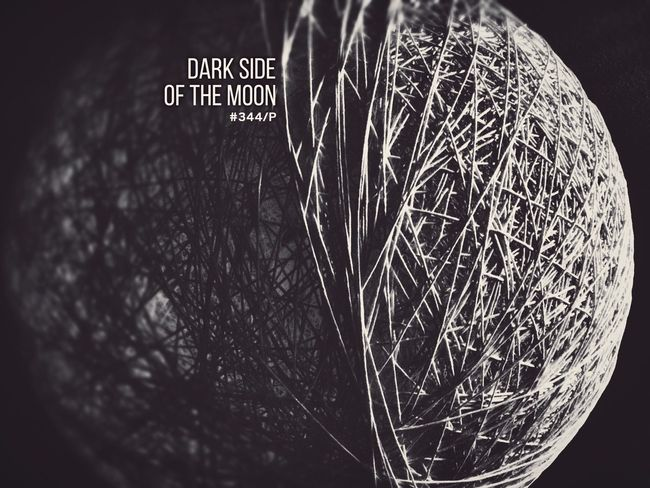 Dark side of the moon. Light And Shadow Black & White Contrast Lights Part of my One Photo a Day Project.