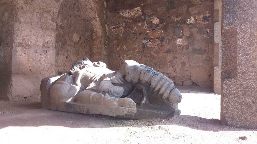 Temple Ruins: Built long ago by King Krishna Dev Rai. Architecture Built Structure Creativity Day History Human Representation Representation Sculpture Shadow Solid Statue Sunlight The Past