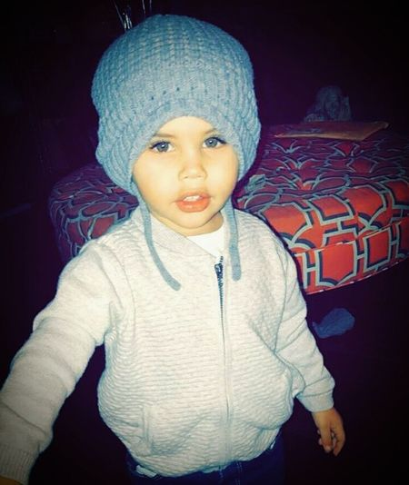 My beautiful son Knit Hat Casual Clothing Boys Looking At Camera Child Front View One Boy Only Children Only First Eyeem Photo