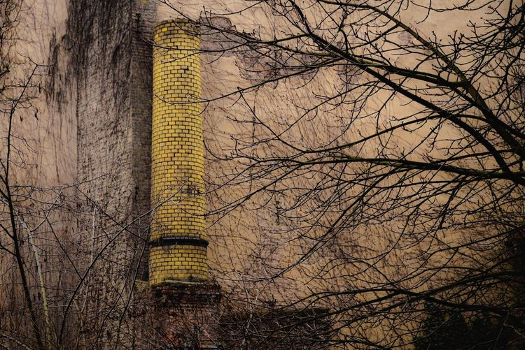 Change Chimney Deindustrialization Derelict Industry No People Old Economy Restructuring Structural Change Strukturwandel Resist BYOPaper! Paint The Town Yellow Discover Berlin