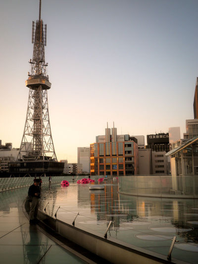 Architecture Built Structure City Life Cityscape Oasis21 Reflection Sakae Sunset Urban Skyline Water