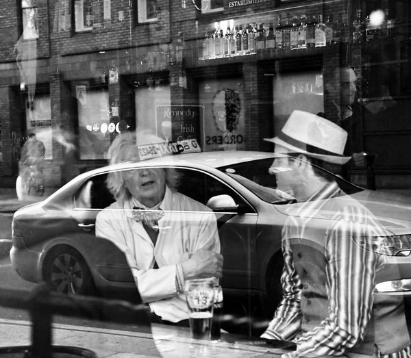Back to the future moment Illusions Back To The Future Dremmetbrown Martymcfly Streetphotography Car Reflection Dublin Street Photography Bohemiangentleman