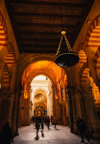 The Cathedral of Cordoba Arch Architecture Art Catedral Cathedral Córdoba España Indoors  Light And Shadow Lights Mezquita Mezquita De Córdoba Mezquitacatedraldecórdoba Monument Mosque People Silhouette Tourism Tourist Attraction  Tourists Traveling