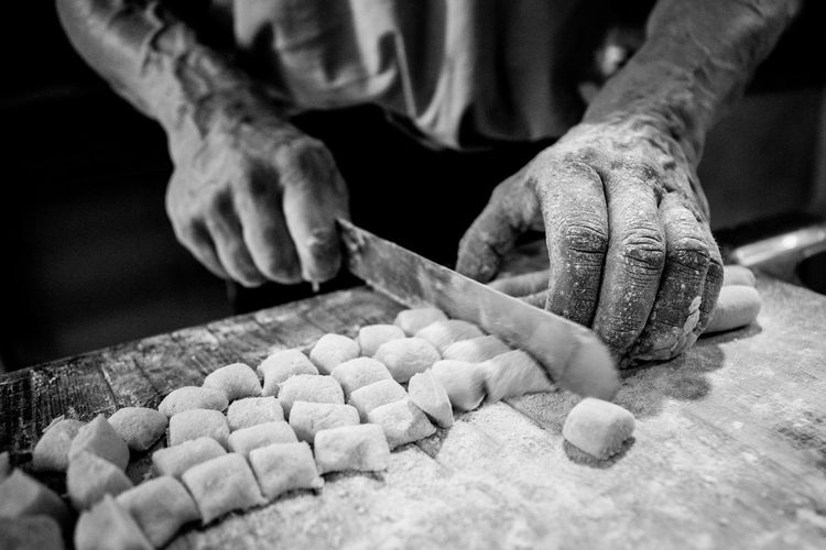 Gnocchi's creation Blak And White Cooking Cultures EyeEm EyeEm Best Shots EyeEm Gallery EyeEmNewHere Food Foodphotography Gnocchi Hand Human Hand Italian Food Photography Fresh On Market 2017