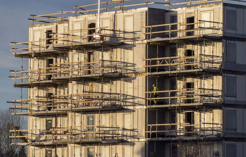 Architecture Building And Sky Building Exterior Built Structure Construction Construction Work Construction Worker Day Fire Escape No People Outdoors Sky Working Hard Workplace