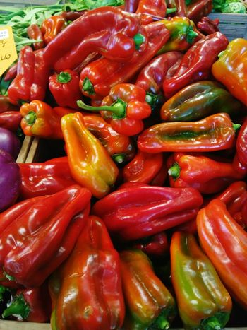 Farmersmarket Red Color Green Color Food Italy❤️ Redpeppers