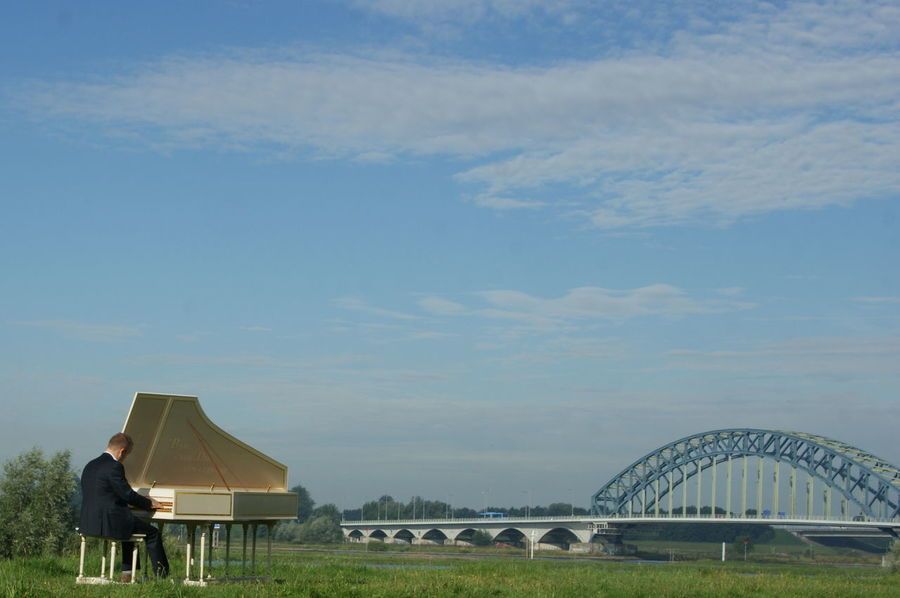 Bridge Day Do What You Love Early Morning Free Harpsichord Holland Music One Person Outdoors Sky Zwolle Go Higher Summer Exploratorium Creative Space