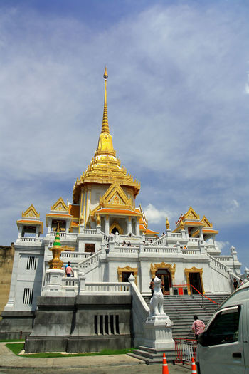 Low angle view of temple