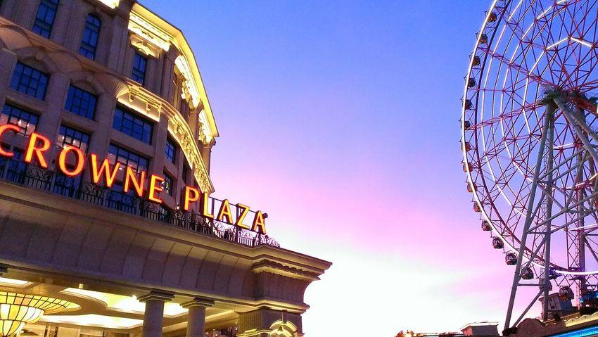 Sunset Ferris Wheel Enjoying Life
