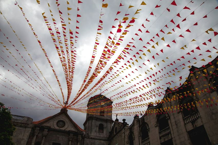 City Building Exterior Travel Destinations Sky No People Architecture Celebration Built Structure Outdoors Low Angle View Church Church Buildings Intramuros Manila, Philippines Intramuros,manila