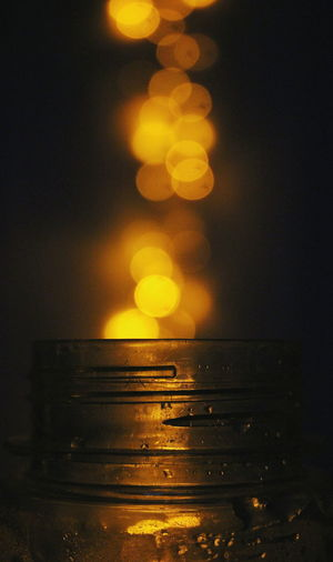 Close up of electric lamp