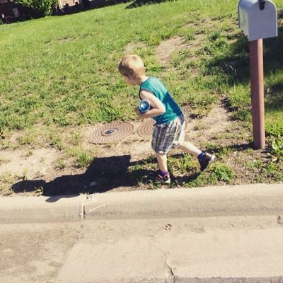 Family walk!! Toddler  Boymom Blessed  Family Walking Boxer Puppy Loveyouwithallmyheart