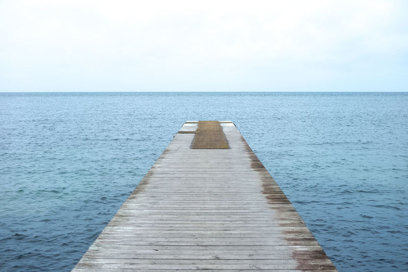Jetty In Sea Against Sky