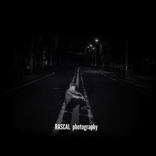 Nikon D5100  OSAKA Japan Blackandwhite Cool Portrait Boy Road Photo Photography