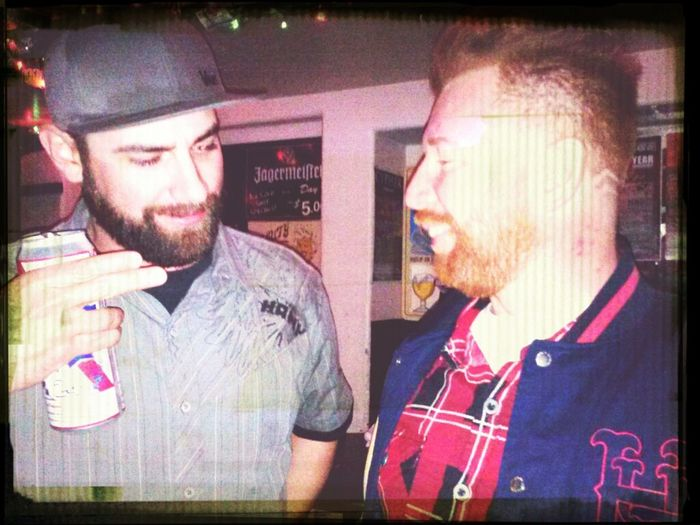 These two are debating who has the better beard #BrownvsGinger #Kyle #Mike #PBR