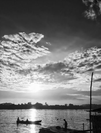 The Brightest IPhoneography Blackandwhite Sky Water Nature Cloud - Sky Beauty In Nature Scenics Tranquility Outdoors Silhouette Tree Mountain Nautical Vessel Day No People