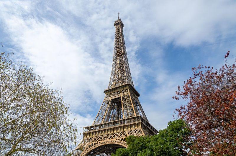 The eiffel tower in spring, paris