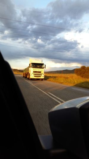 Showcase March After The Rain Truck Heavy Vehicle Oncoming Q = Quick Pass The Journey Is The Destination On The Way