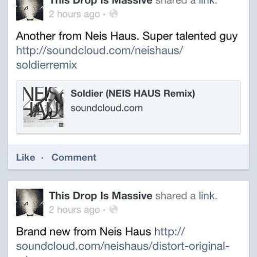 THIS DROP IS MASSIVE PROMOTING NEIS HAUS! WOOT! HugePromo GreatfulForSupport Newmusic  HARDWORKDANDDEDICATION