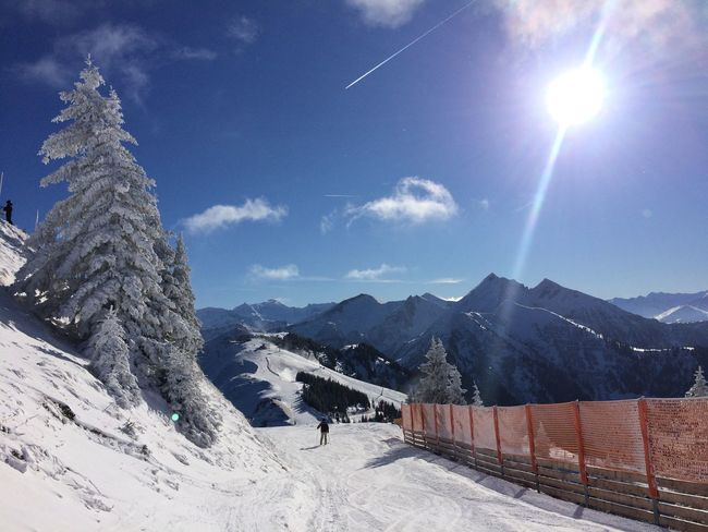 Sky Mountain Snow Winter Scenics Outdoors Sunlight Day Mountain Range Nature Beauty In Nature Landscape Tree Cold Temperature Tranquility Skiing Mymountainlife Bergwelten Mountain Lover