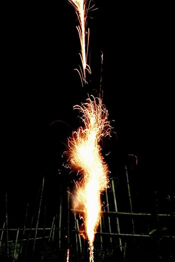 Night Long Exposure Firework - Man Made Object Firework Display Illuminated Outdoors Motion Sparkler Burning Event No People Sky Wire Wool 物