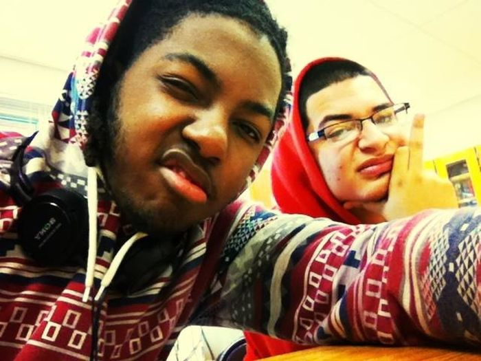 Thuggin during exam, his dumb ain't even done