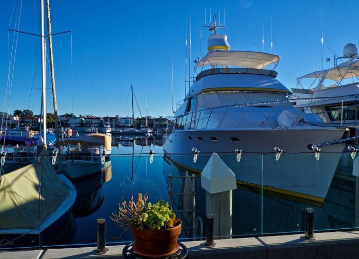 EyeEm Selects Nautical Vessel Water Harbor Outdoors Sea Sky Moored No People Clear Sky Blue Day Newport Beach, CA, USA Balboa Peninsula Marina California Perfect Day