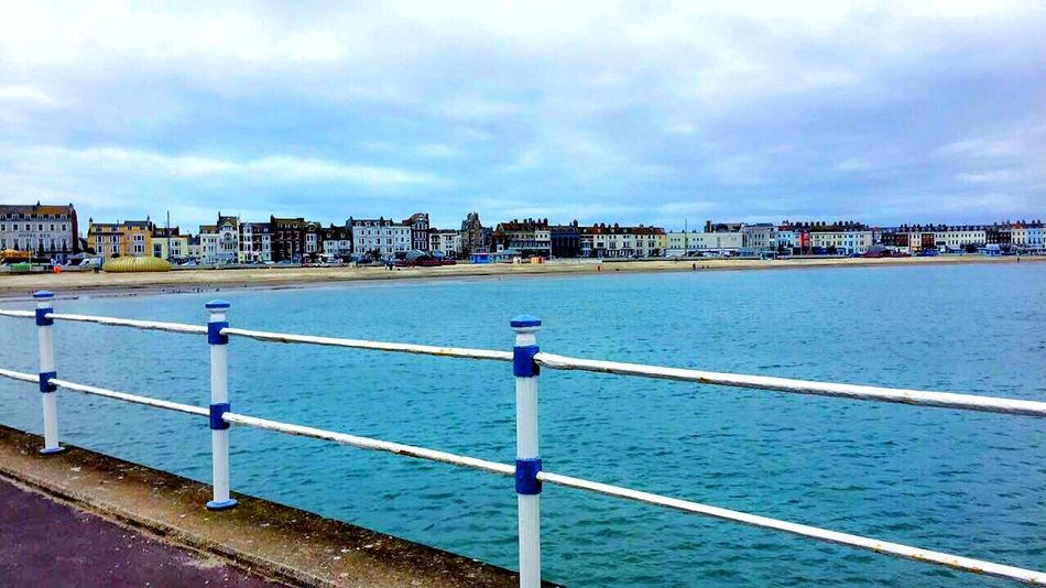 Architecture Beach Blue Sea Blue Sky Blue Sky And Clouds Building Exterior Built Structure City Cityscape Cloud - Sky Cloudy Sky Day No People Outdoors Pier Sand Sea Sea And Sky Sea Front Sky Water Waves Weymouth