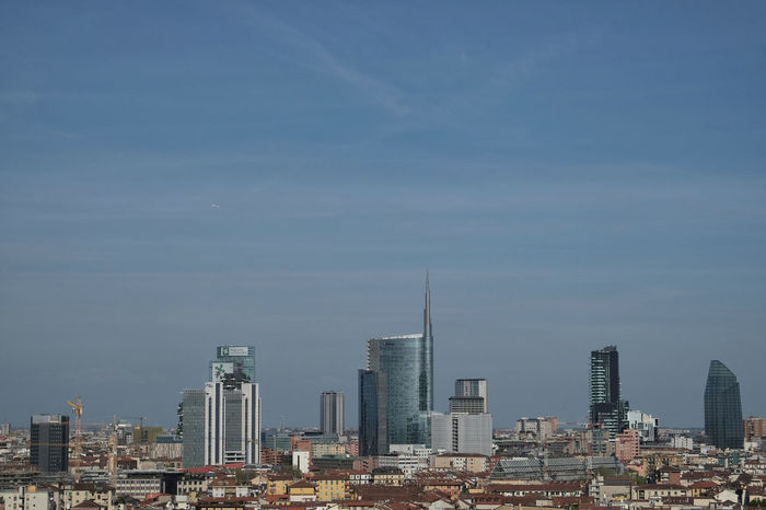 view of the new Porta Nuova District, Milan, Italy Copy Space Milan Panorama Unicredit Tower Architecture Business District City Cityscape Day Iconic Buildings Iconic Landmark Iconic Landscape Modern No People Outdoors Porta Nuova Porta Nuova Milano Portanuova Skyline Skyscraper Tourism Destination Tower Travel Destinations Urban Skyline