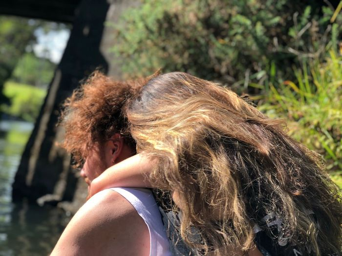 hair EyeEmNewHere Real People One Person Headshot Leisure Activity Long Hair Day Outdoors Young Women Lifestyles Focus On Foreground Nature Young Adult Close-up
