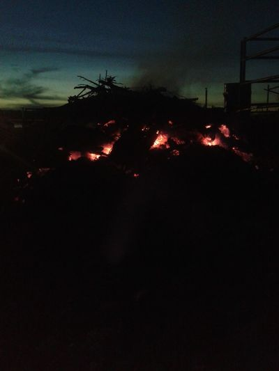 Night Outdoors No People Sky Fire Fire - Natural Phenomenon Fire And Flames Embers Sunset Glowing Red Evening Evening Sky