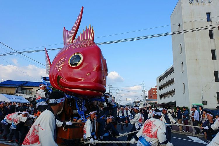 ドヤッ!! 唐津くんち Saga,Japan Karatsukunchi 祭り(festival) In Japan Matsuri Fish Red Japanese Culture