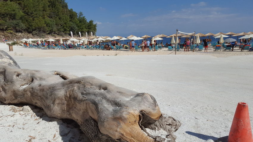 Marble beach Thassos EyeEm EyeEmNewHere EyeEm Nature Lover Beach Sand Sea Summer Outdoors Vacations Sky Large Group Of People Sand Dune Beach Volleyball Water Nature EyeEmNewHere Enjoyment Beauty In Nature Day