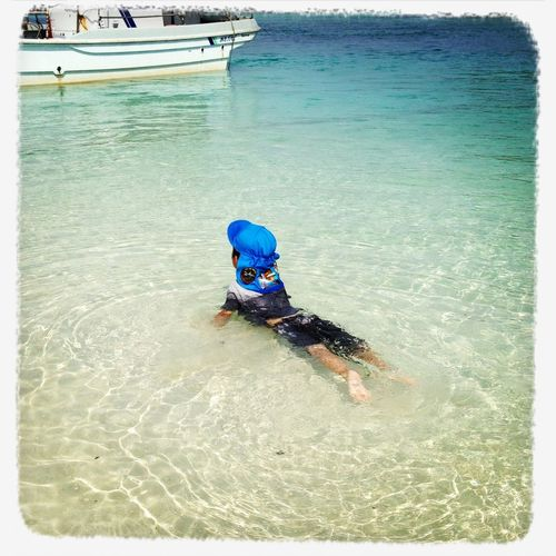 Enjoying Life Okinawa On The Beach Swimming